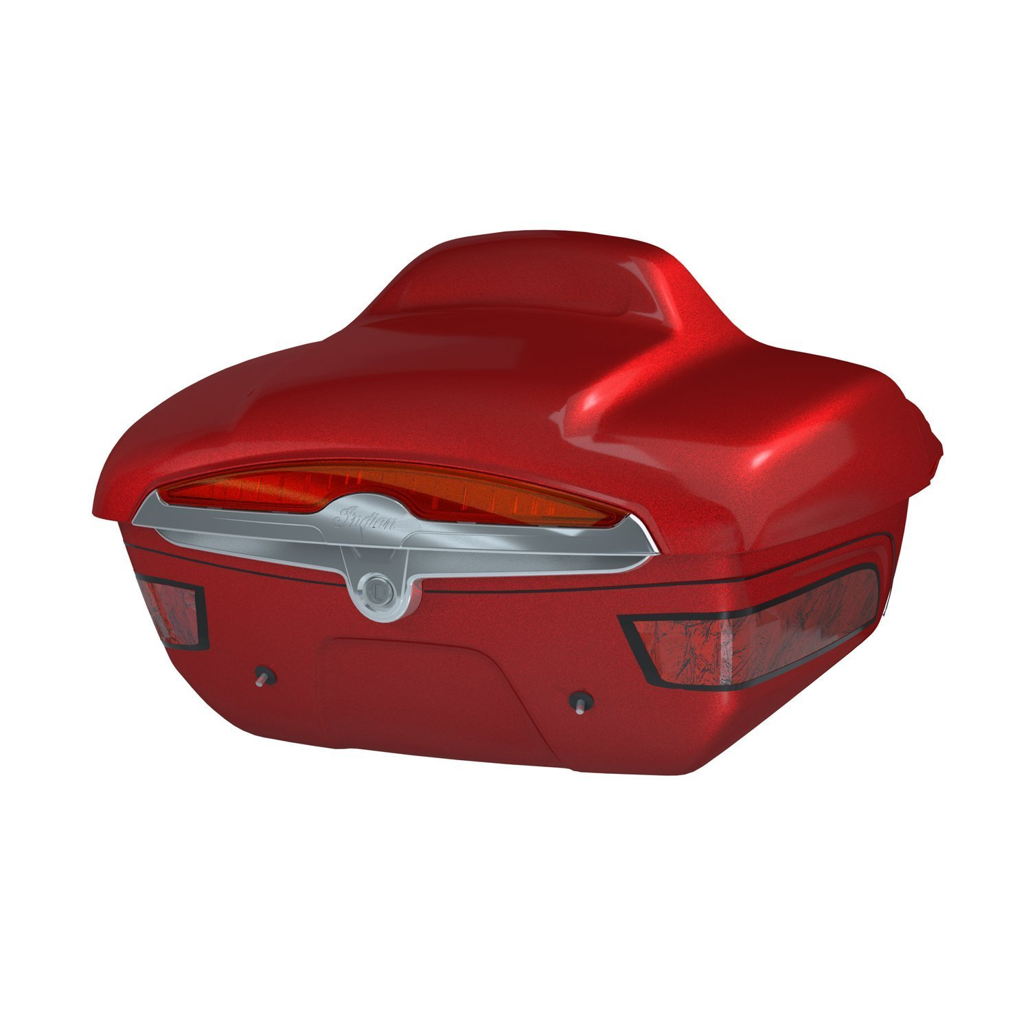 Quick Release Trunk – Fireglow Red Candy with Graphics