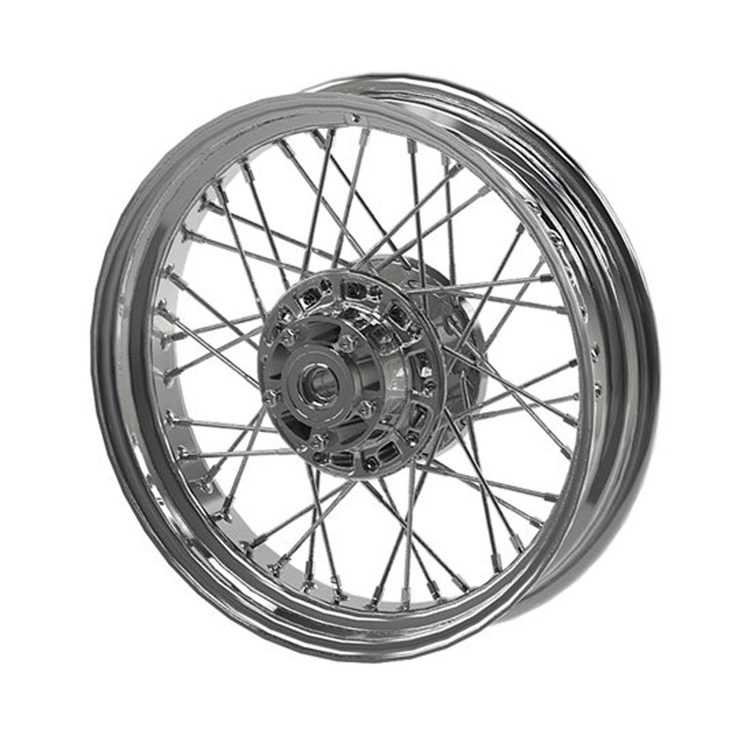 Front Laced Wheel for Scout – Chrome