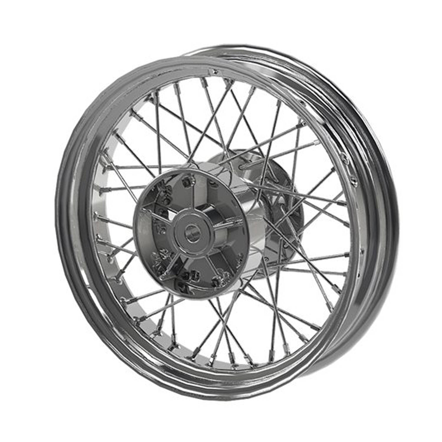 Rear Laced Wheel for Scout – Chrome