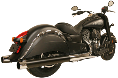 WAR HORSE Black Mufflers for Indian Cruiser Motorcycles