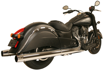 WAR HORSE Chrome Mufflers for Indian Cruiser Motorcycles