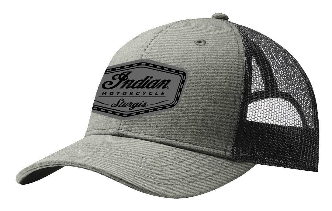 Indian Motorcycle Sturgis Leather Mesh Hat