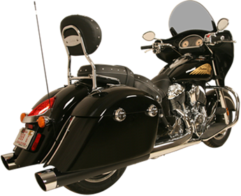 WAR HORSE Black Mufflers for Indian Touring Motorcycles