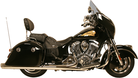 WAR HORSE Chrome Mufflers for Indian Touring Motorcycles
