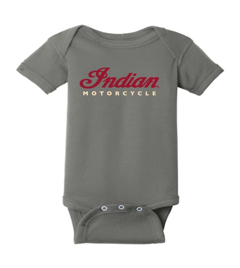 Indian Motorcycle Sturgis Infant Bodysuit in Charcoal