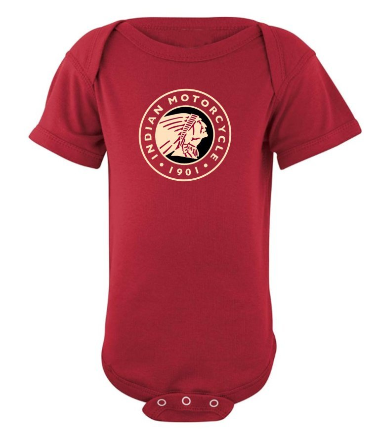 Indian Motorcycle Sturgis Infant Bodysuit in Red