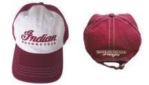 Indian Motorcycle Sturgis Two-Tone Garment Washed Hat – Stone & Red