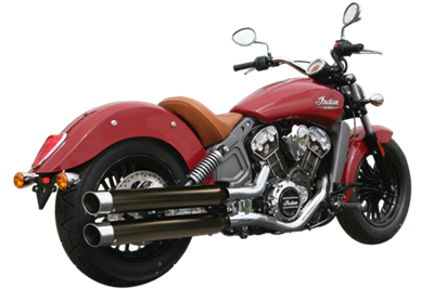 WAR HORSE Black Mufflers for Indian Scout Motorcycles