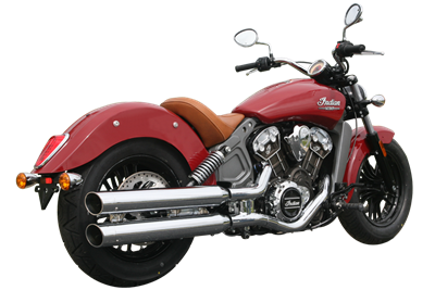 WAR HORSE Chrome Mufflers for Indian Scout Motorcycles