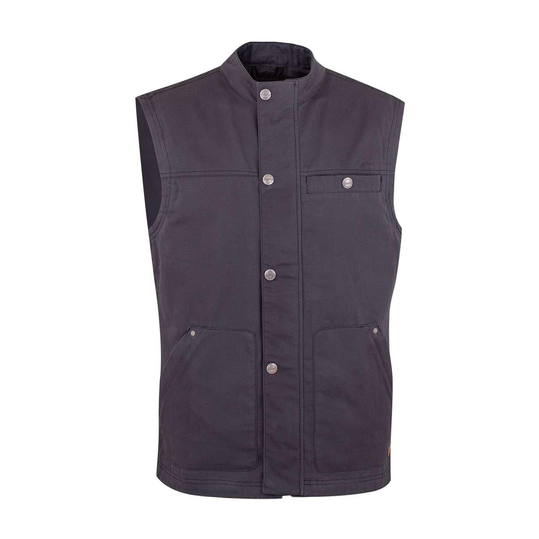 Men's Casual Retro Waxed Cotton Vest, Black