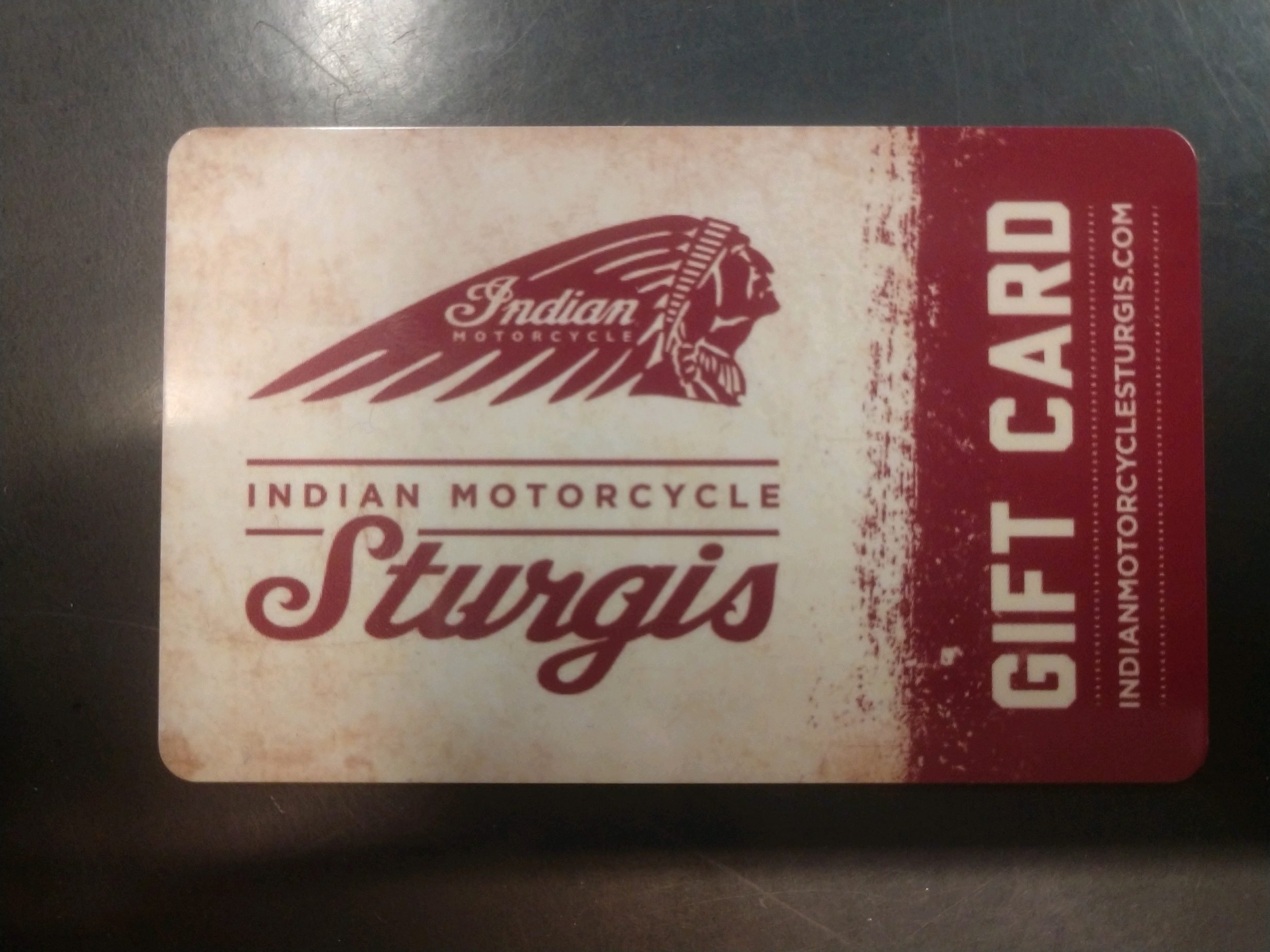 Indian Motorcycle Sturgis Gift Card