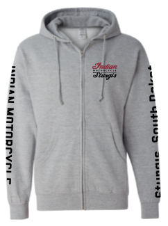 Indian Motorcycle Sturgis Zip-up Headdress Hoodie in Grey