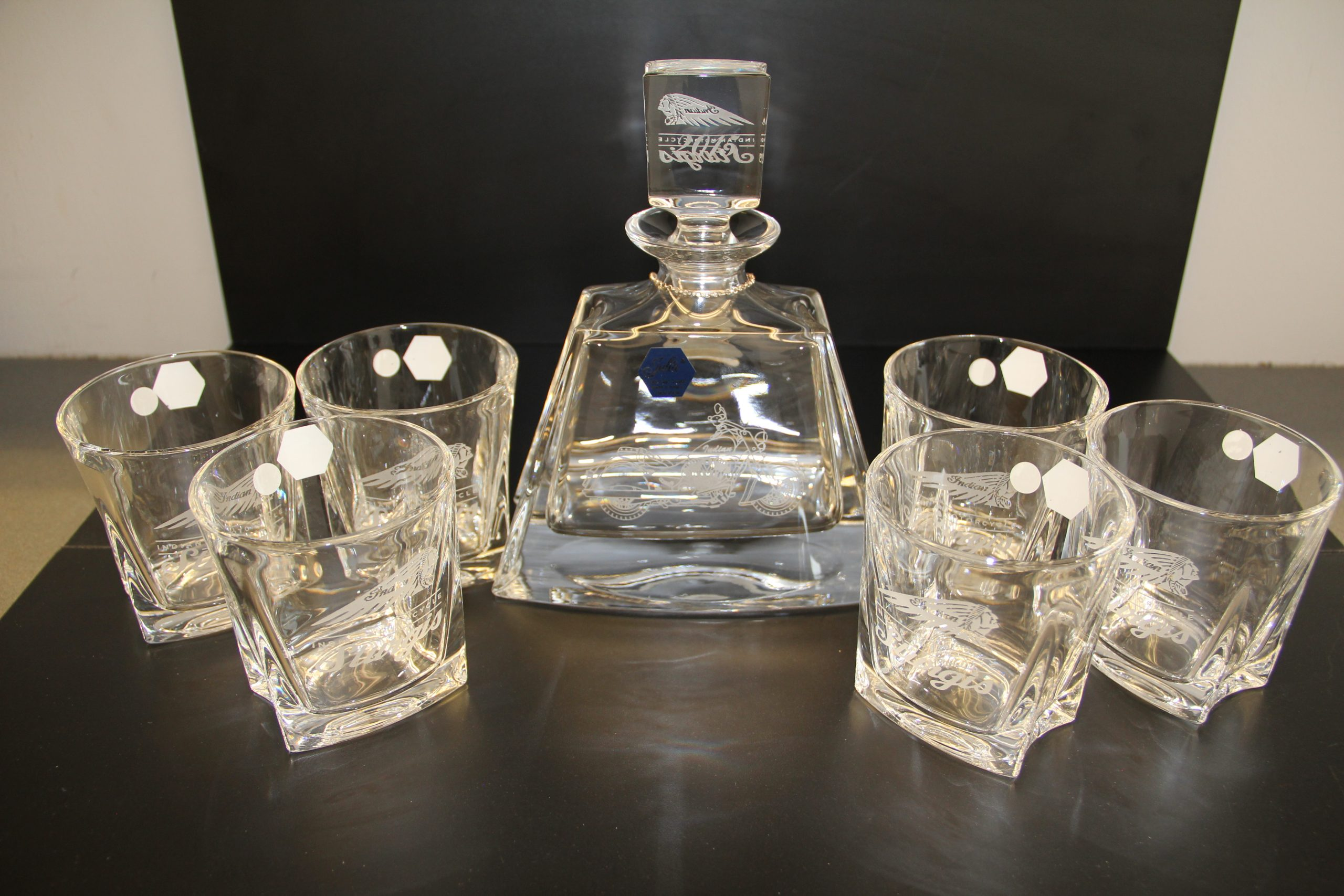 """SPIRIT OF STURGIS"" CRYSTAL DECANTER SET"
