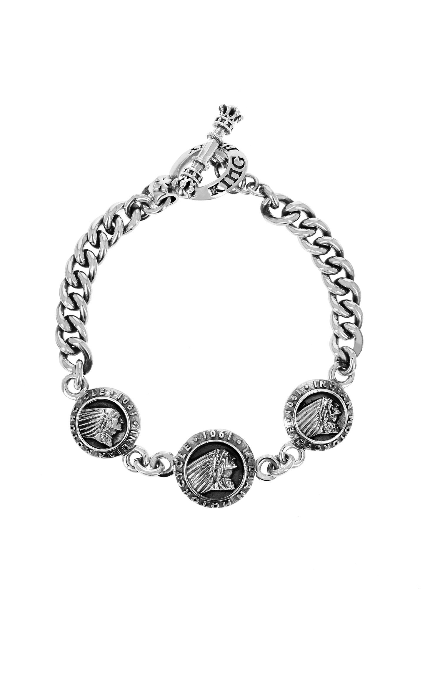 Indian Motorcycle Charm Bracelet