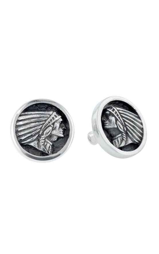 Indian Headdress Coin Stud Earrings