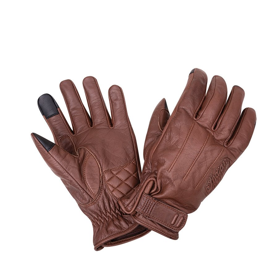 Men's Leather Getaway Riding Gloves, Brown