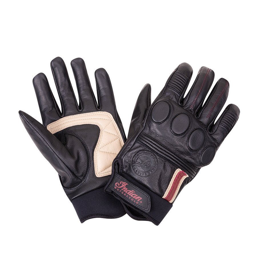 Men's Leather Retro 2 Riding Gloves, Black