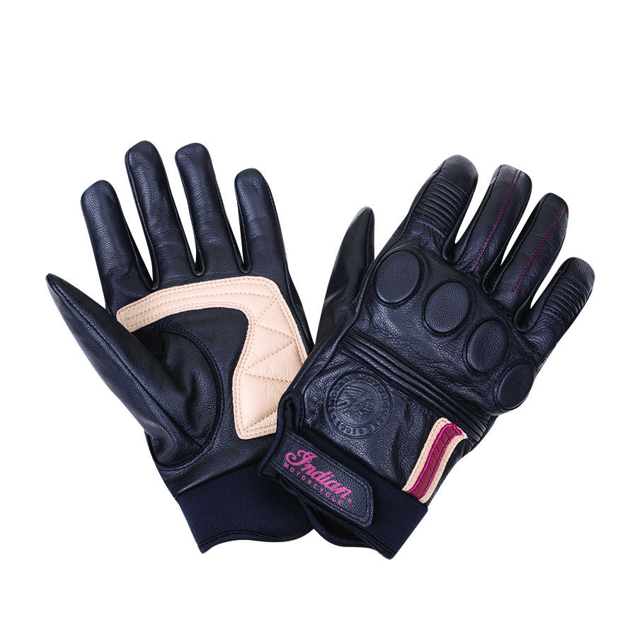 Women's Leather Retro 2 Riding Gloves, Black