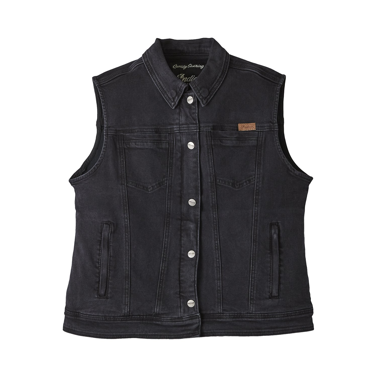 Women's Denim Lana Vest, Black