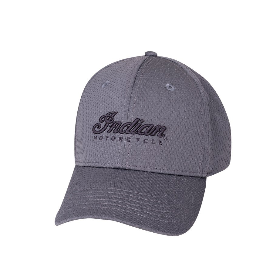 Performance Hat with Embroidered Script Logo, Gray
