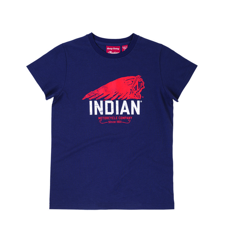 Kids Hand Printed T-Shirt, Blue