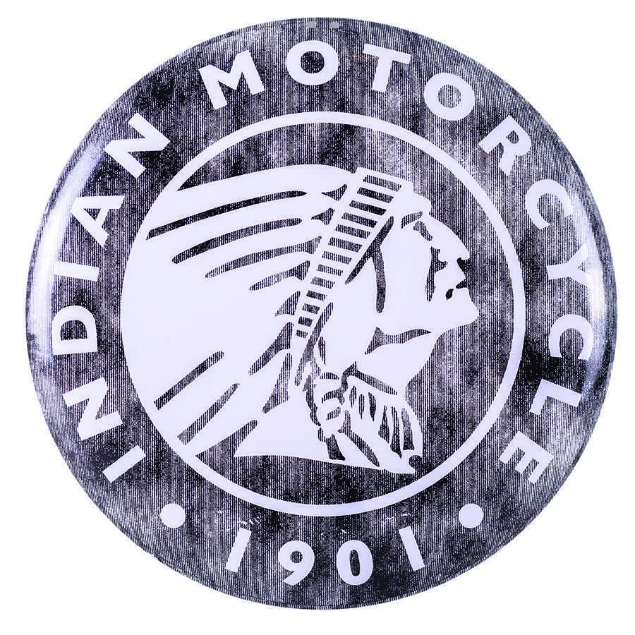 Circle Icon Logo Metal Sign