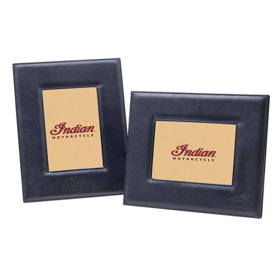 Leather Photo Frame, Black, Set of 2