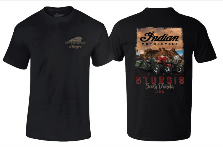 Indian Motorcycle Sturgis 80th Rally Badlands Tee – Men's