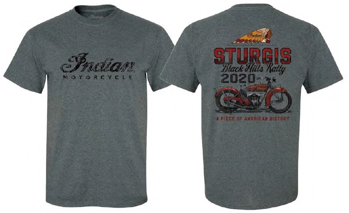 Indian Motorcycle Sturgis 2020 Vintage T-Shirt – Gray or Black