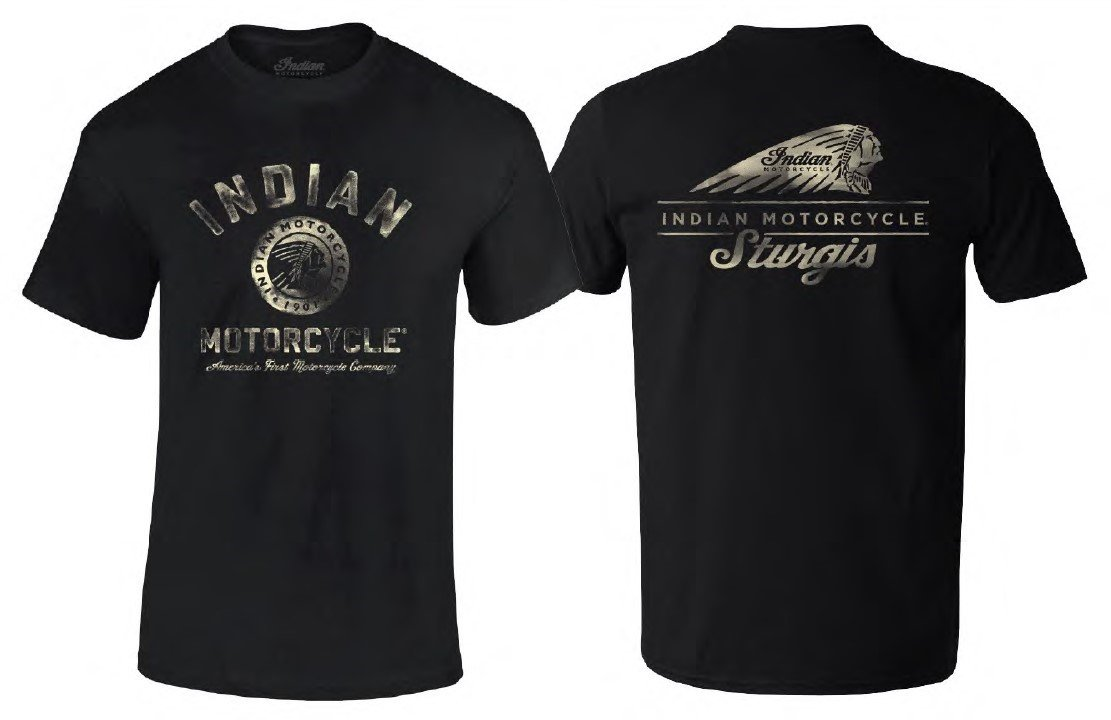 Indian Motorcycle Sturgis Men's Painted Coin T-Shirt – Black