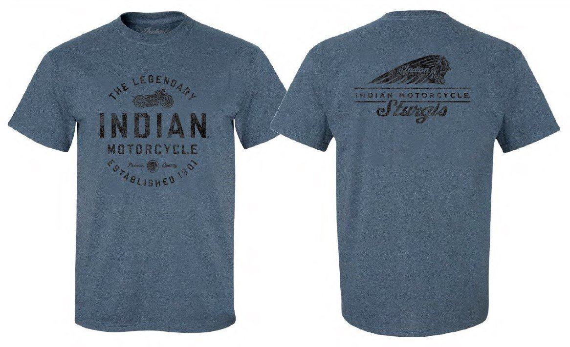 Indian Motorcycle Sturgis Men's Legendary T-Shirt – Blue