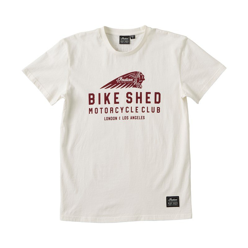 Unisex BSMC x Indian Motorcycle Tee, White