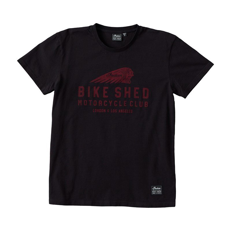 Unisex BSMC x Indian Motorcycle Tee, Black