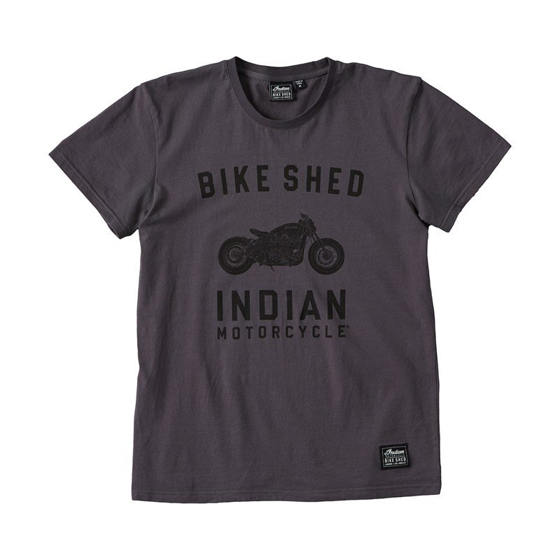Unisex BSMC x Indian Motorcycle Custom T-Shirt, Gray