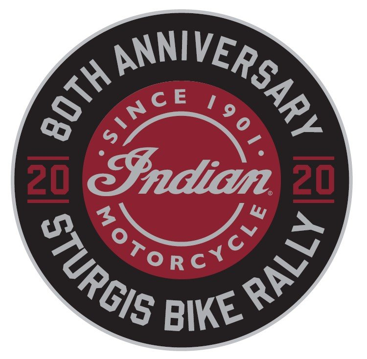 Indian Motorcycle Sturgis 80th Rally Patch, Sticker and Pin Combo Pack