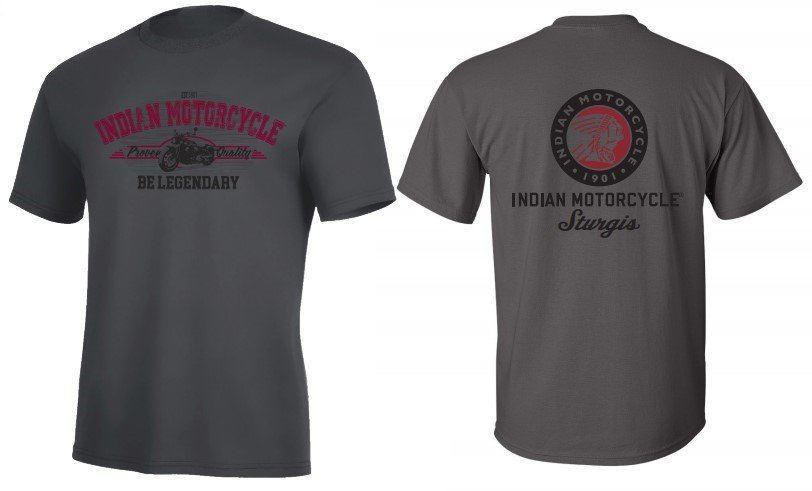 Indian Motorcycle Sturgis Be Legendary T-Shirt in Grey