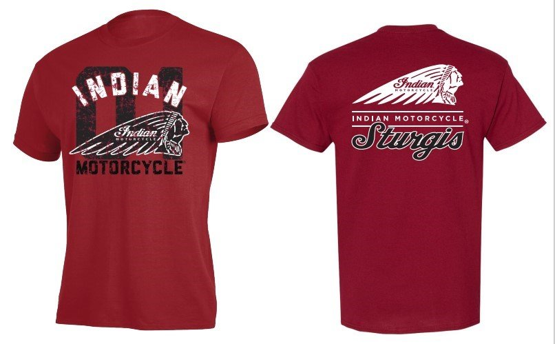Indian Motorcycle Sturgis War Bonnet T-Shirt in Red