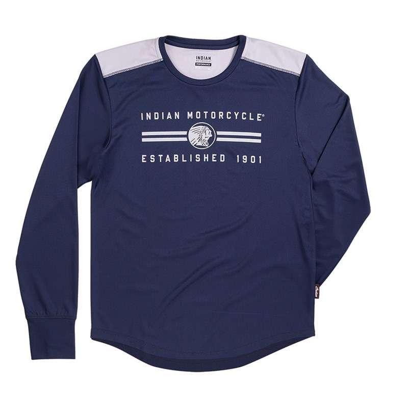 Men's Long-Sleeve Performance T-Shirt, Navy