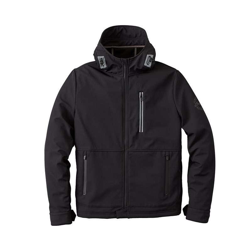 Men's Casual Softshell Jacket, Black