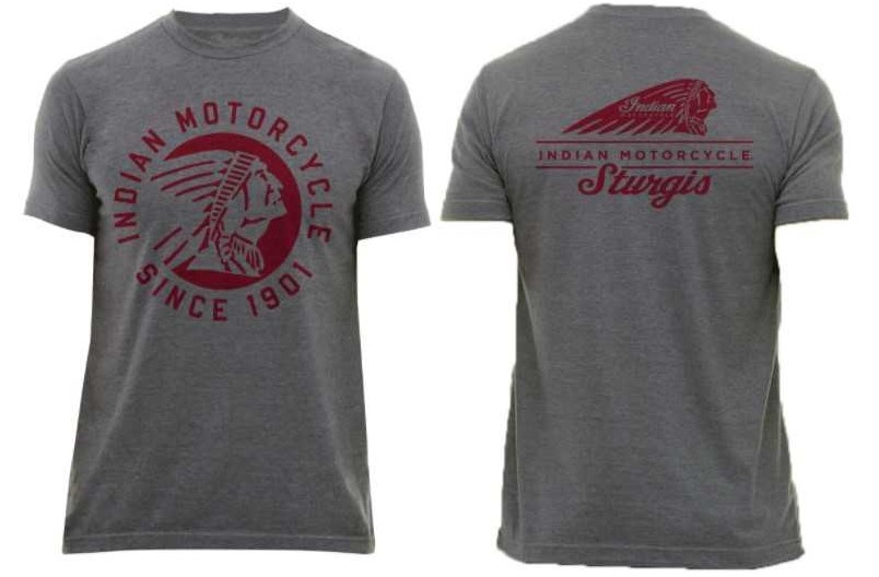 Indian Motorcycle Sturgis Icon T-Shirt in Gray