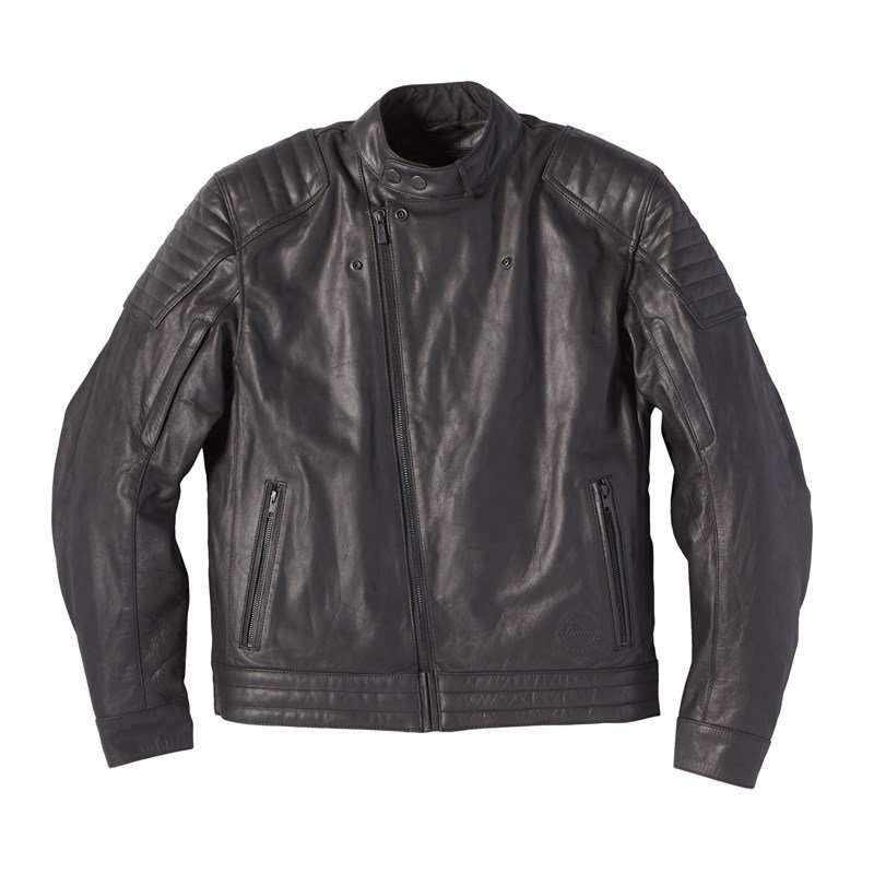 Men's Leather Denton Jacket, Black