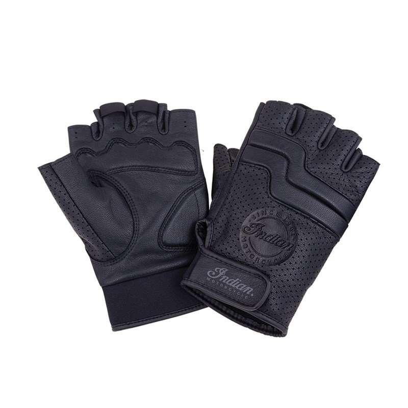 Men's Leather Fingerless Denton Glove, Black