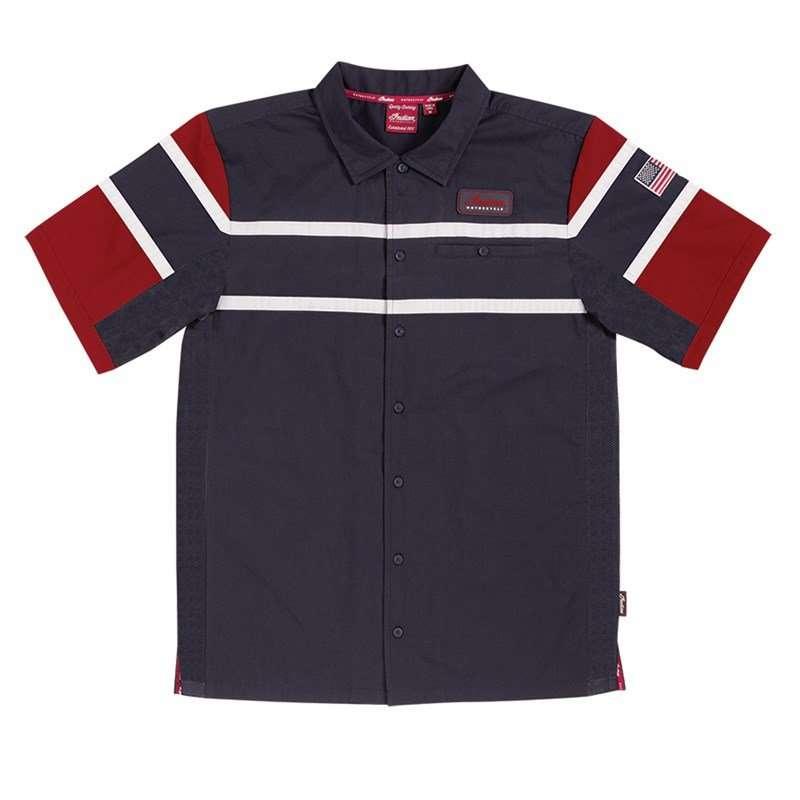Men's Applique Shop Shirt, Black