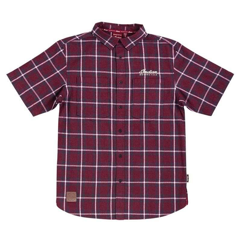 Men's Headdress Plaid Shirt, Red