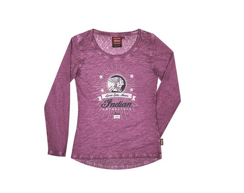 Women's Long Sleeve Glitter Icon T-Shirt, Purple