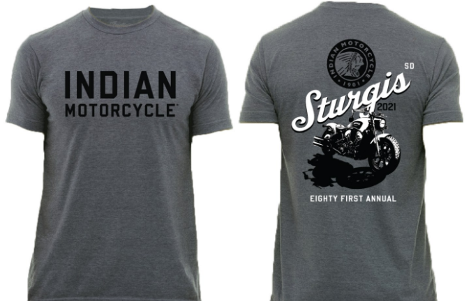 Indian Motorcycle Sturgis 81st Grey Bobber Rally Shirt