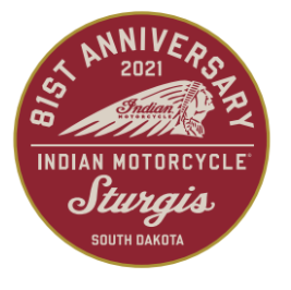 Indian Motorcycle Sturgis 81st Rally Patch-Red