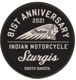 Indian Motorcycle Sturgis 81st Rally Patch-Black