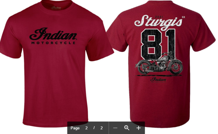 Indian Motorcycle Sturgis 81st Rally Shirt- Red Scout