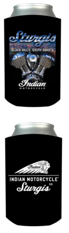 Indian Motorcycle Sturgis 81st Can Koozie-Black